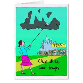 Cartão da boa sorte para o corredor de maratona -