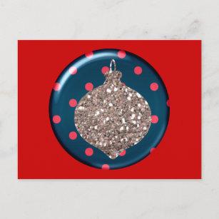 Cartão da bola dos enfeites de natal