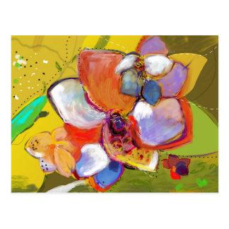 Cartão da bolota e da flor
