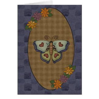 Cartão da borboleta da coleção da queda do outono