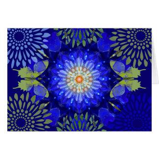 Cartão da borboleta da mandala do índigo