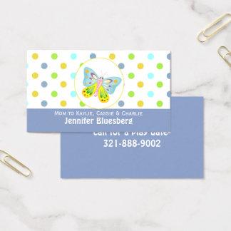 Cartão da borboleta e das mamães das bolinhas