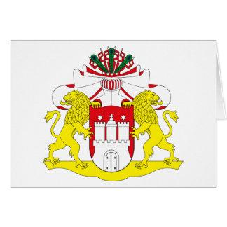 Cartão da brasão de Hamburgo