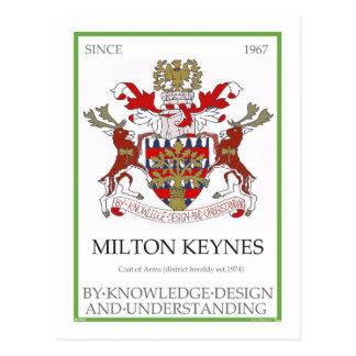 Cartão da brasão de Milton Keynes