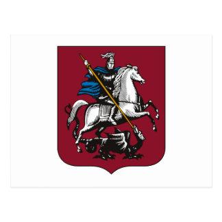 Cartão da brasão de Moscovo
