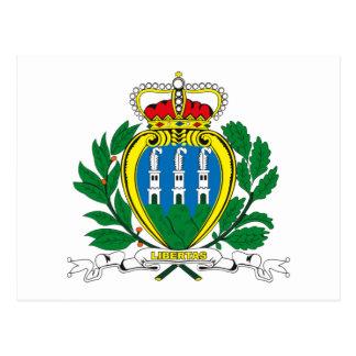 Cartão da brasão de San Marino