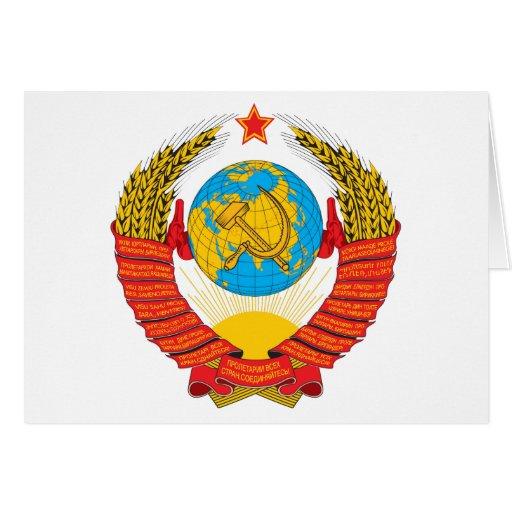 Cartão da brasão de URSS