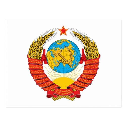 Cartão da brasão de URSS Cartao Postal
