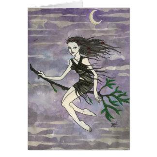 """Cartão da bruxa de """"Serafina"""""""
