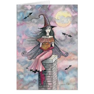 Cartão da bruxa do Dia das Bruxas por Molly