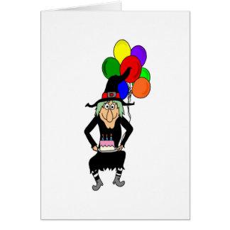 Cartão da bruxa do feliz aniversario