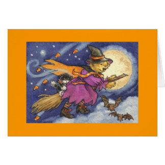 Cartão da bruxa do urso de ursinho do Dia das