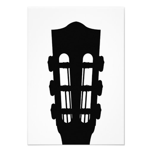 Cartão da cabeça RSVP da guitarra acústica Convite Personalizado