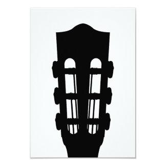 Cartão da cabeça RSVP da guitarra acústica Convite 8.89 X 12.7cm
