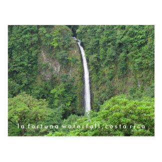 Cartão da cachoeira de Fortuna do La de Costa Rica Cartão Postal