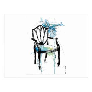 Cartão da cadeira de Hepplewhite