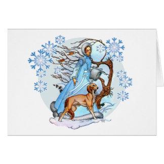 Cartão da caminhada do inverno
