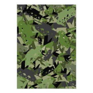 Cartão da camuflagem RSVP do exército do tanque Convites Personalizado