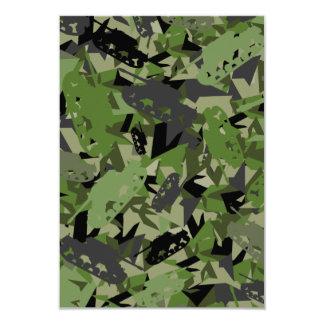 Cartão da camuflagem RSVP do exército do tanque Convite 8.89 X 12.7cm