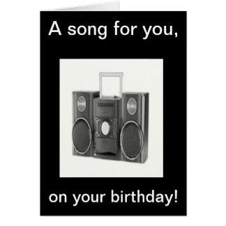 Cartão da canção do feliz aniversario