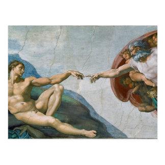 Cartão da capela de Sistine de Michelangelo