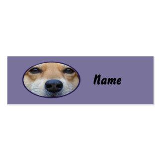 Cartão da cara do cão mini cartão de visita skinny