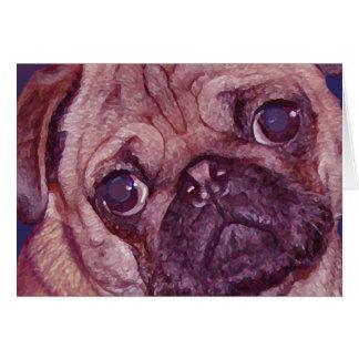 Cartão da cara do filhote de cachorro do Pug