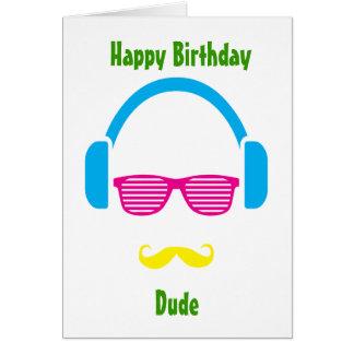 Cartão da cara do hipster