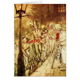 """Cartão da """"cargo do natal vintage luz """""""
