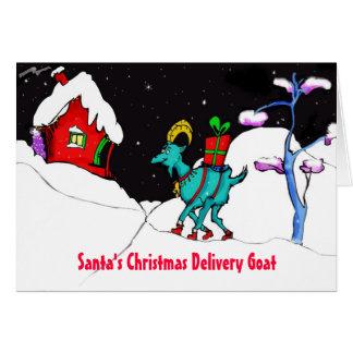 Cartão da caridade do autismo da cabra da entrega