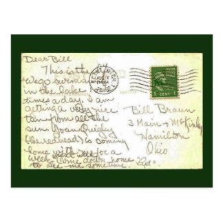Cartão da carta de amor cartão postal