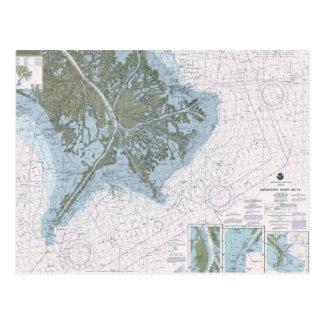 Cartão da carta do MS do LA do delta do rio