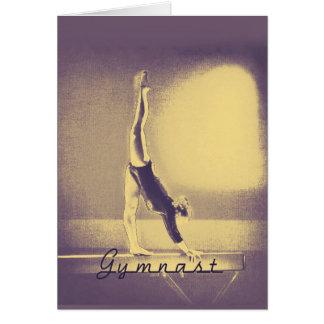 """Cartão Da """"cartão boa sorte"""" do Gymnast"""