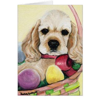 """Cartão Da """"cartão da arte do filhote de cachorro de"""