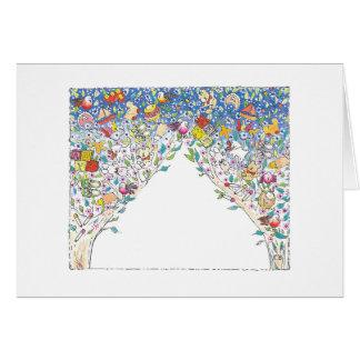 """Cartão Da """"cartão de nota feito sob encomenda da árvore"""