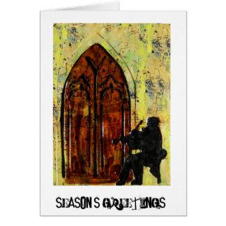 """Cartão Da """"cartão dos cumprimentos estação"""" do violinista"""