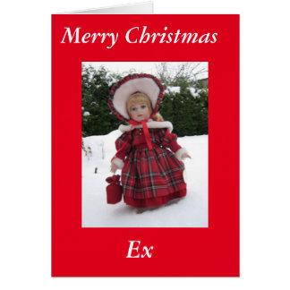 """Cartão Da """"cartão ex do Xmas feliz """""""