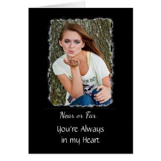 """Cartão Da """"cartão personalizado senhorita Você"""""""