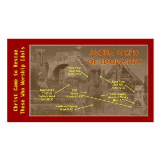 Cartão da carteira do testemunho evangelismo cartoes de visitas