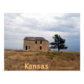 Cartão da casa da fazenda da pedra calcária de