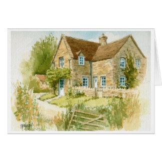 Cartão da casa de campo dos plenos Verões