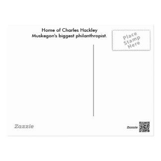 Cartão da casa de Charles Hackley