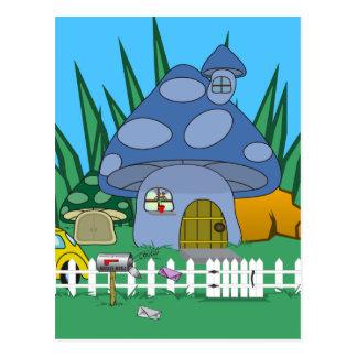 Cartão da casa do cogumelo