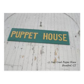 Cartão da casa do fantoche de Stony Creek