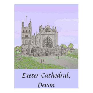Cartão da catedral de Exeter