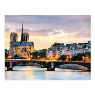 Cartão da catedral de Notre-Dame Cartão Postal