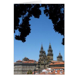 Cartão da catedral de Santiago