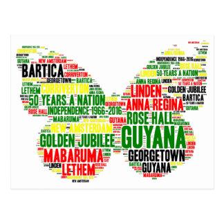 Cartão da celebração da independência de Guyana