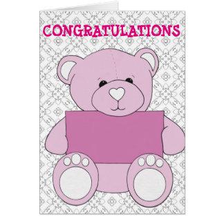 Cartão da celebração do bebê