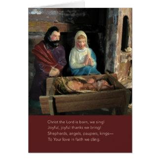 Cartão da cena da natividade do vintage -